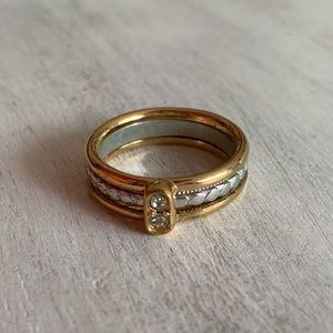 Avon Vintage Ring Gold/Silver Band Size 6.5